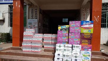致(zhi)富不忘黨恩 安岳(yue)村(cun)民捐贈物資(zi)共同戰疫