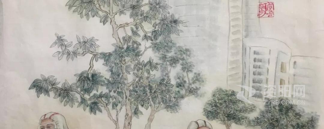 資陽(yang)抗疫美術作(zuo)品︰《致敬(jing)勇士(shi)》