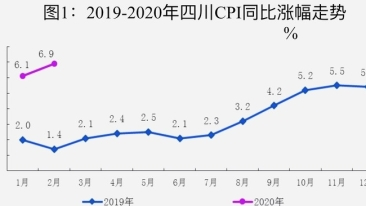2月四川CPI同比漲6.9%!豬肉(rou)同比漲132.4%