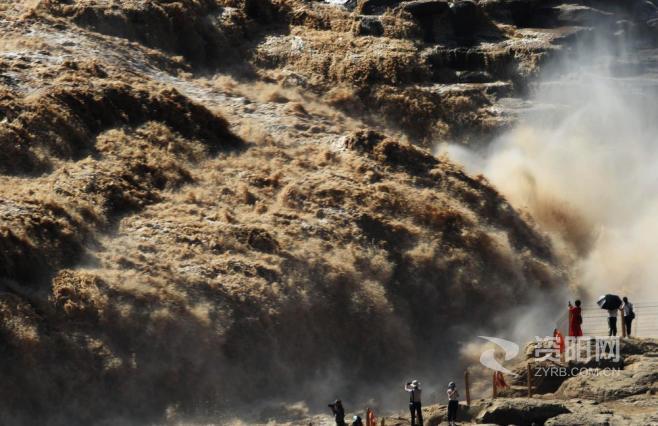 【图集】黄河壶口瀑布洪峰过后开放迎客