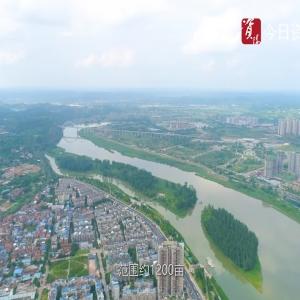 微视频‖一分钟看资阳:沱西滨江景观带